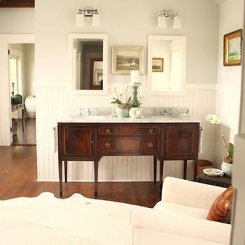 Benjamin Moore Horizon, Cottage, bathroom, Benjamin Moore Horizon, For the Love of a House