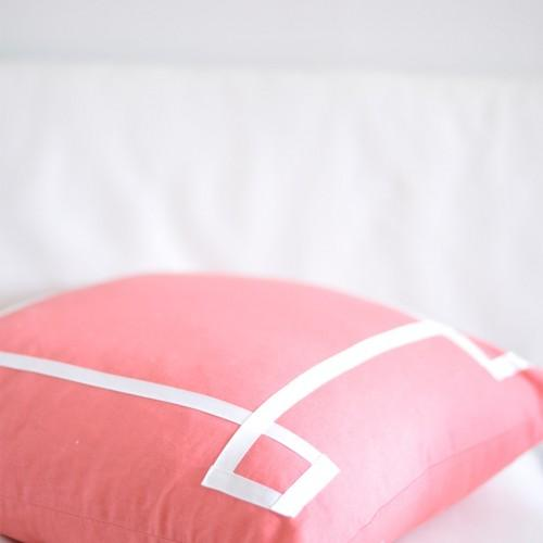 Pillows - Caitlin Wilson Textiles: Coral Signature Pillow - coral, signature, pillow