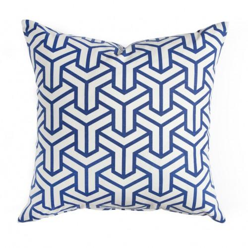 Pillows - Caitlin Wilson Textiles: Cobalt Hong Kong Pillow - cobalt, hong kong, pillow