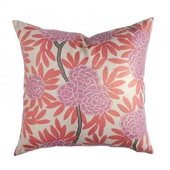 Pillows - Caitlin Wilson Textiles: Berry Fleur Chinoise Pillow - berry, fleur, chinoise, pillow