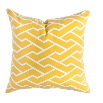 Pillows - Caitlin Wilson Textiles: Mustard City Maze Pillow - mustard, city maze, pillow