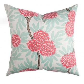 Pillows - Caitlin Wilson Textiles: Mint Fleur Chinoise Pillow - mint, fleur, chinoise, pillow