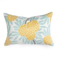 Pillows - Caitlin Wilson Textiles: Mustard Fleur Chinoise Pillow - mustard, fleur, chinoise, pillow