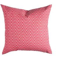 Pillows - Caitlin Wilson Textiles: Coral Tall Chevron Pillow - coral, tall, chevron, pillow