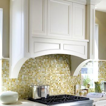 Brandon Barre Photography - kitchens - floor to ceiling, white, kitchen cabinets, light gray, quartz, countertops, yellow, gray, mosaic, tiles, backsplash, iridescent glass tile, iridescent glass tile backsplash,
