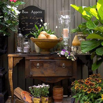 Antique Garden Table, Eclectic, deck/patio, Brandon Barre Photography