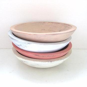 Decor/Accessories - Storage Bowls Shabby Chic Pretty Set of 4 by GreenFoxStudio - shabby chic, bowls