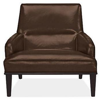 Larsen Leather Chair & Ottoman, Chairs, Living, Room & Board