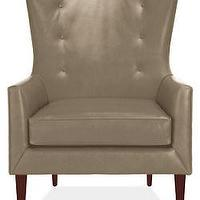 Seating - Louis Leather Chair &amp; Ottoman - Chairs - Living - Room &amp; Board - louis, chair