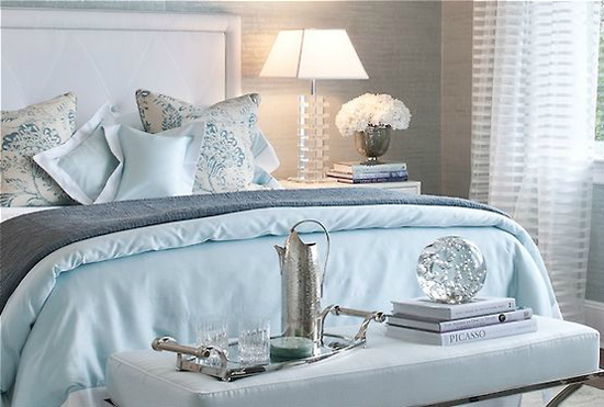 blue and gray bedding transitional bedroom patricia