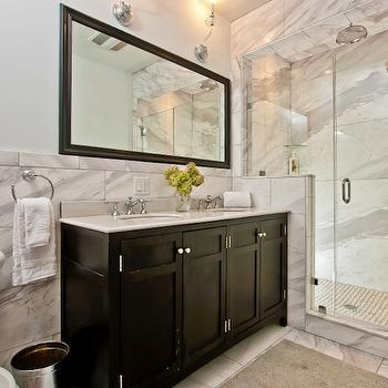 Espresso Vanity, Contemporary, bathroom, Pricey Pads