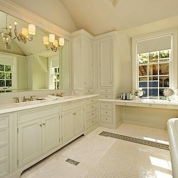 Monochromatic Bathroom, Traditional, bathroom, Pricey Pads