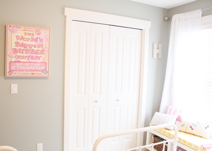 Gray Walls, Transitional, girl's room, General Paint Dishwater, Daffodil Design