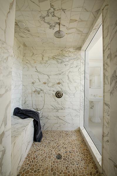 Bathroom Ideas Calcutta Marble : Calcutta gold marble transitional bathroom artistic tile