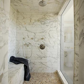 Calcutta Gold Marble, Transitional, bathroom, Artistic Tile