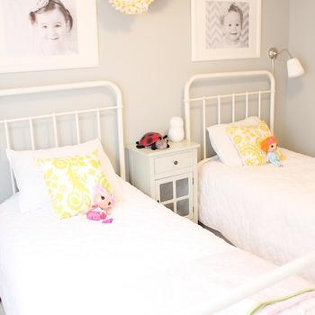 Restoration Hardware Baby & Child Millbrook Bed, Transitional, girl's room, General Paint Dishwater, Daffodil Design