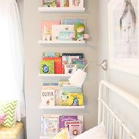 Daffodil Design - girl's rooms - General Paint - Dishwater - gray, walls, white, sheers,  Fun girls' bedroom with gray walls paint color, Ikea