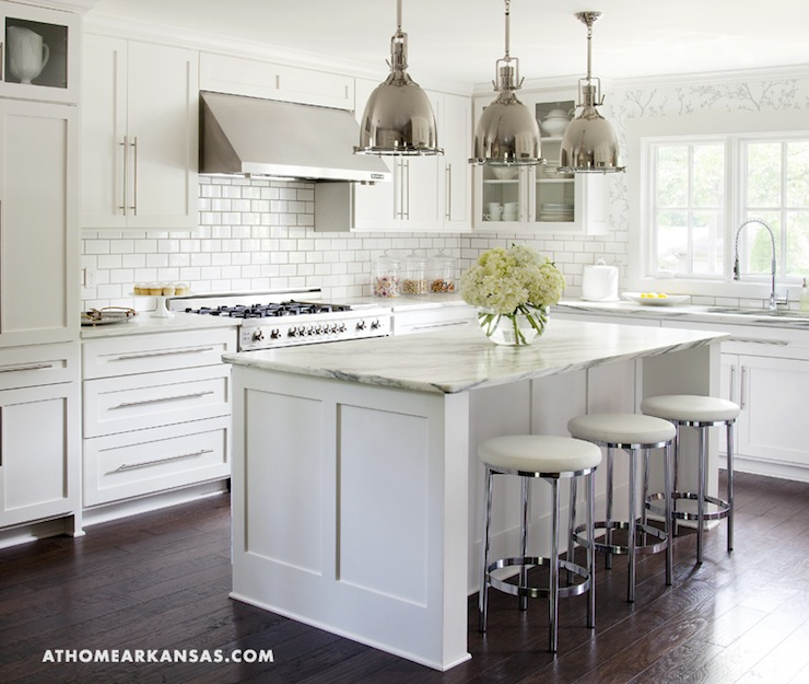 Kitchens, White Kitchens Cabinets, Subway Tile, Kitchens Islands, Ikea