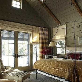 Campaign Canopy Bed, Cottage, bedroom, M. Elle Design