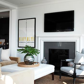 Spool Chair Transitional Living Room O And D Interiors