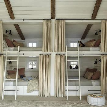 Built In Bunk Beds, Cottage, boy's room, M. Elle Design