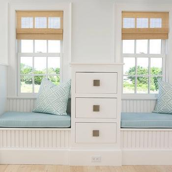 Beadboard Window Seat, Cottage, bedroom, Lynn Morgan Design