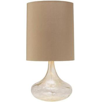 Silveria Glass Table Lamp, Vielle and Frances