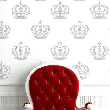 Cool Crown Stencil for Wall and Furniture by royaldesignstencils