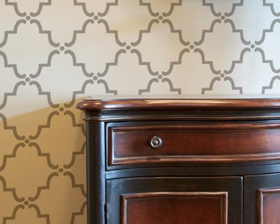 Moroccan Wall Stencil Small Moorish Trellis by royaldesignstencils