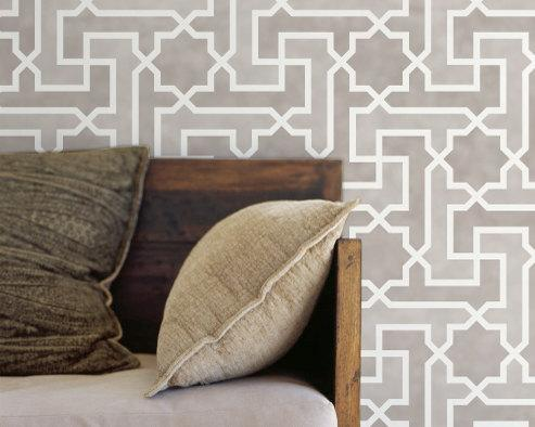 Art/Wall Decor - Moroccan Wall Stencil Large Moroccan Key by royaldesignstencils - large, Moroccan, key, stencil