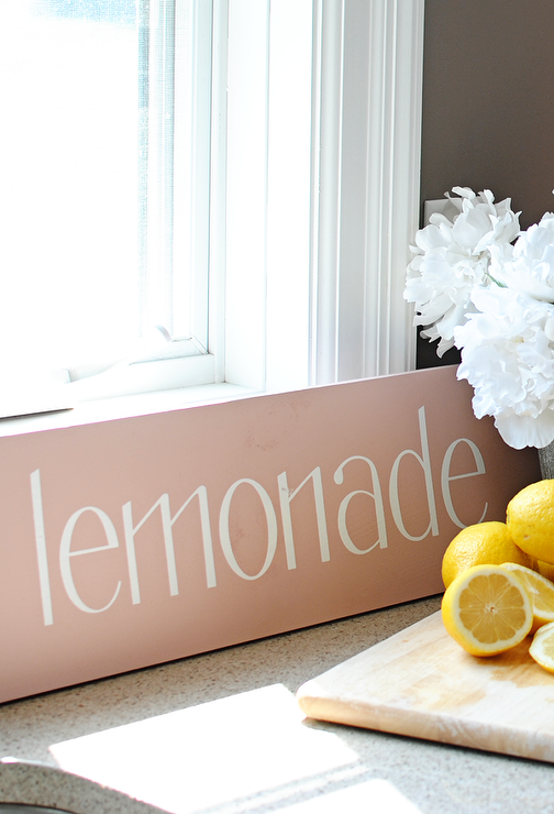 Art/Wall Decor - Dear Lillie ���?? Lemonade Sign in Pink - lemonade, sign