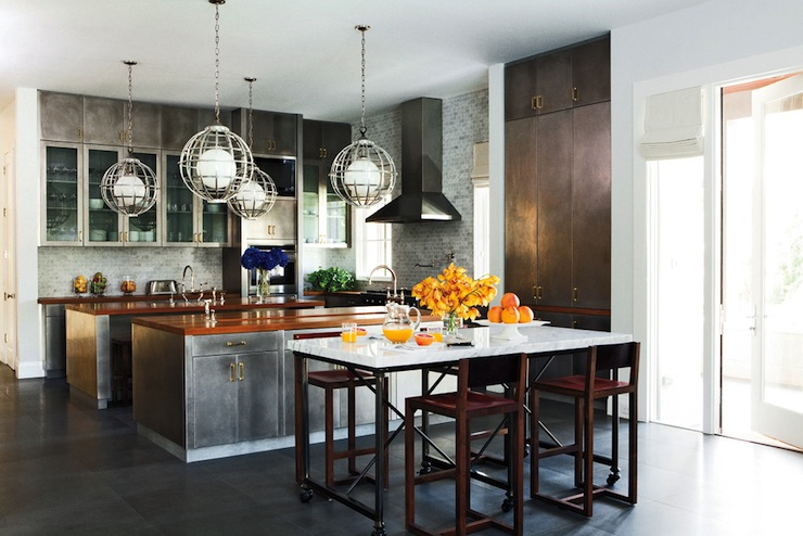 Metal kitchen cabinets eclectic kitchen nate berkus Nate berkus kitchen design