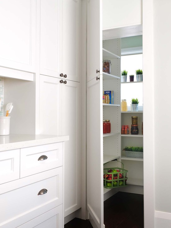 Hidden Pantry Contemporary Kitchen