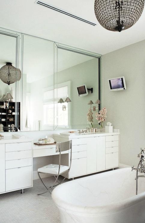 Marble Top Vanity Contemporary Bathroom Nate Berkus