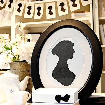 Art/Wall Decor - Dear Lillie ���?? Jane Austen Silhouette Cardstock Set - jane austen, silhouette