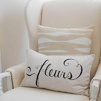 Pillows - Dear Lillie ���?? Fleurs 12x20 Pillow Cover in Black - fleur, pillow