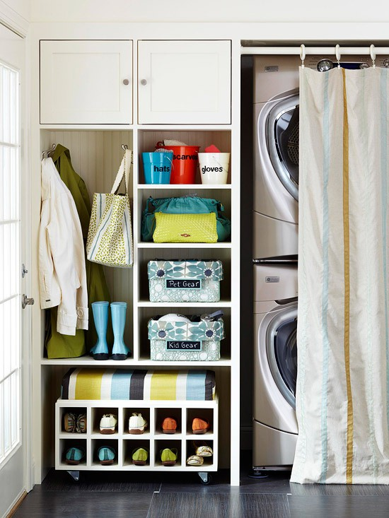 Laundry Room in Mud Room, Contemporary, laundry room, BHG