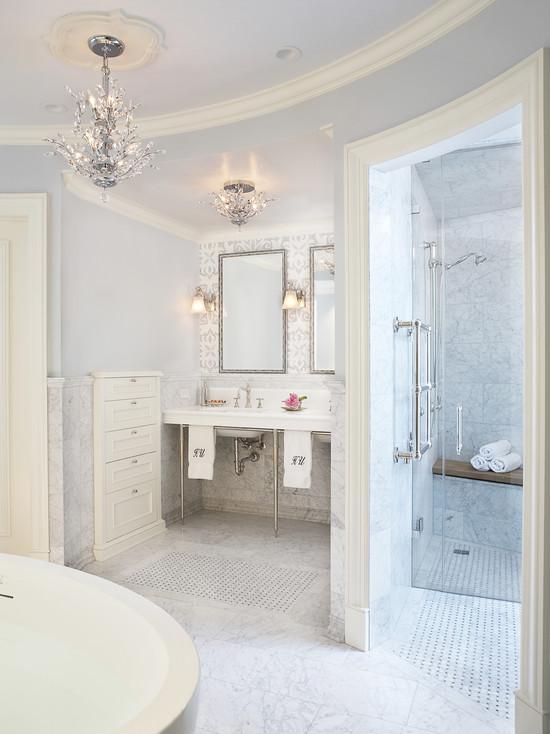 Glamorous Bathroom Contemporary Bathroom Mahogany Builders