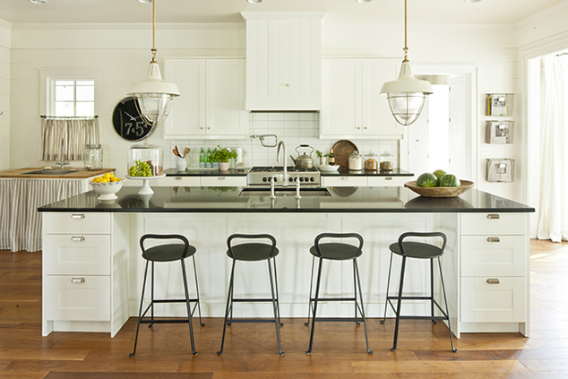 Ballard designs rutland counter stool cottage kitchen for Southern living kitchen designs