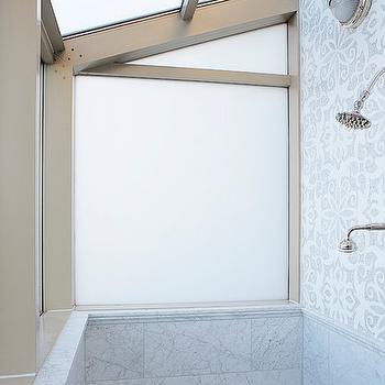 Mahogany Builders - bathrooms - mosaic, marble, backsplash, marble, tiles, shower surround, rain, shower head, mosaic tile, mosaic tile shower, mosaic tile shower, mosaic tile shower surround, shower skylight, skylight shower,
