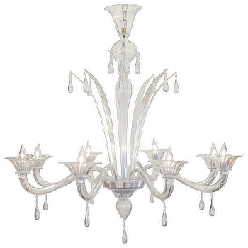 Lighting - Murano Glass 8 Branch Chandelier by Salviati - murano, glass, chandelier