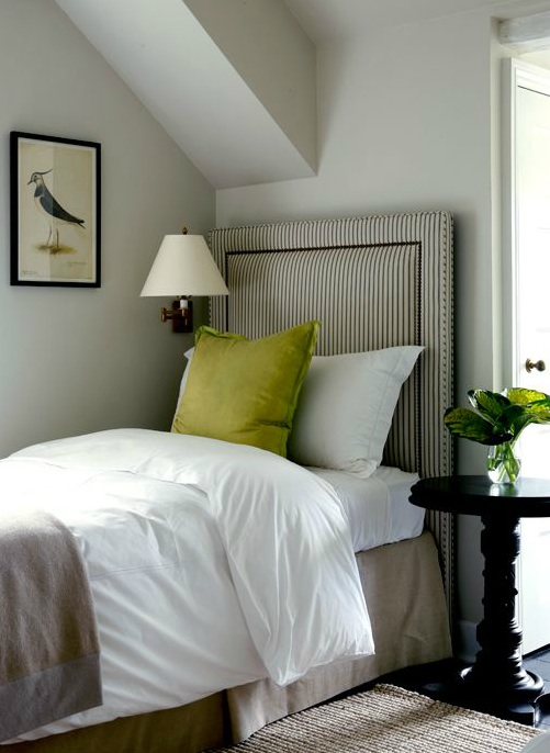 Striped Headboard Cottage Boy S Room Sage Design