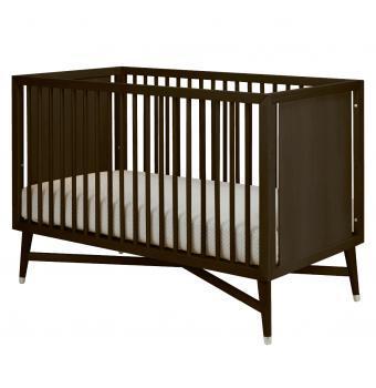 Beds/Headboards - Century Crib | Wee - mid-century, crib, espresso