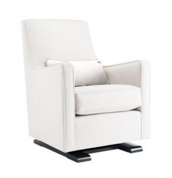 Seating - Luca Glider in White - Gliders & Rockers - Furniture | Wee - luca, glider, white