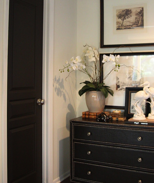 Black Paint Color, Transitional, entrance/foyer, Benjamin Moore Night Horizon, M. E. Beck Design