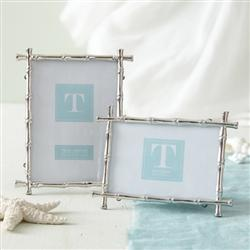 Decor/Accessories - Two's Company Silver Bamboo Frame - Small - silver, bamboo, frame