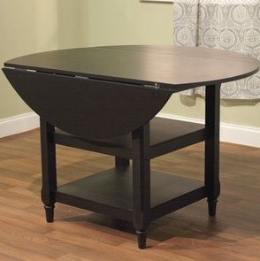 Pottery Barn Shayne Drop Leaf Kitchen Table Black Look 4