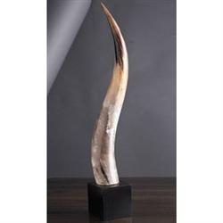 Decor/Accessories - Yak Horn on Wood Base - yak, horn