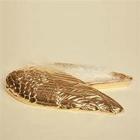 Decor/Accessories - Gold Angel Wing Box - gold, angel, wing, box