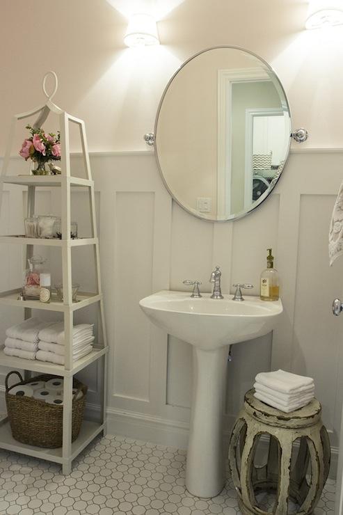 board and batten powder room transitional bathroom. Black Bedroom Furniture Sets. Home Design Ideas